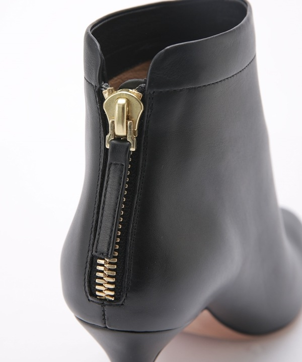 BACK ZIP SHORT BOOTS