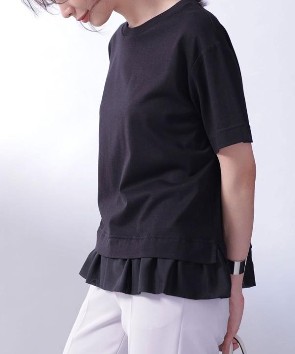 MUVEIL WORK×AntiSoaked切替Tシャツ