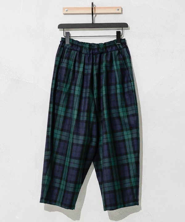別注WOOL CHECK BALLOON PANTS