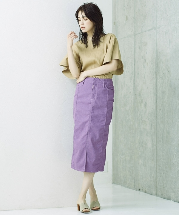 別注PINTUCK SKIRT ROSY