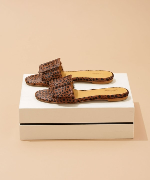 BELTED MULES SANDAL PONY