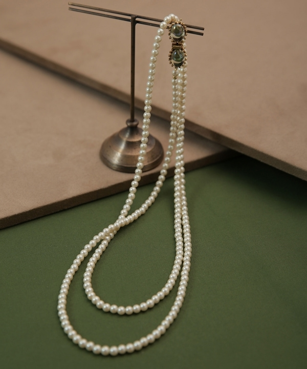 CAMELEON pearl long necklace