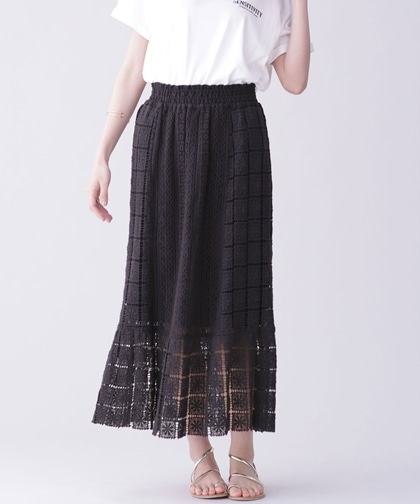 別注LACE FABRIC LONG SKIRT