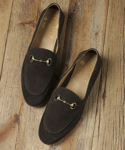 別注SUEDE BIT SLIP ON SHOES