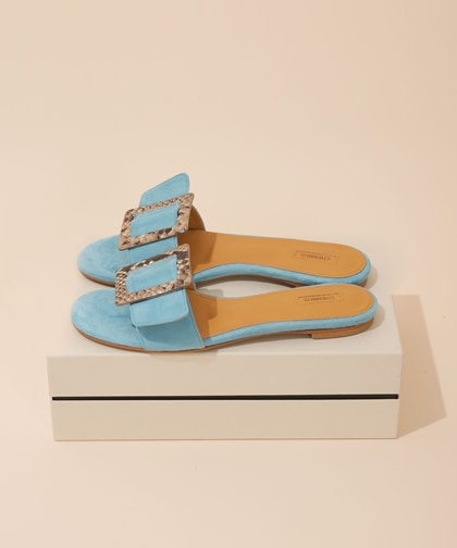 BELTED MULES SANDAL