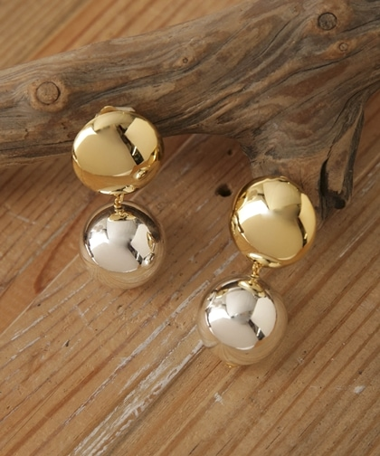 25Metal Pearl Round EarClips