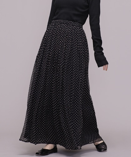 DOTS SILK SKIRT