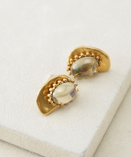 CAMELEON cabochon earring