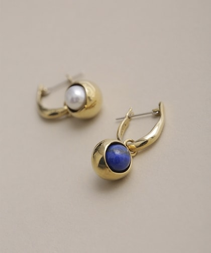 IRIS HOOPS PIERCED EARRINGS